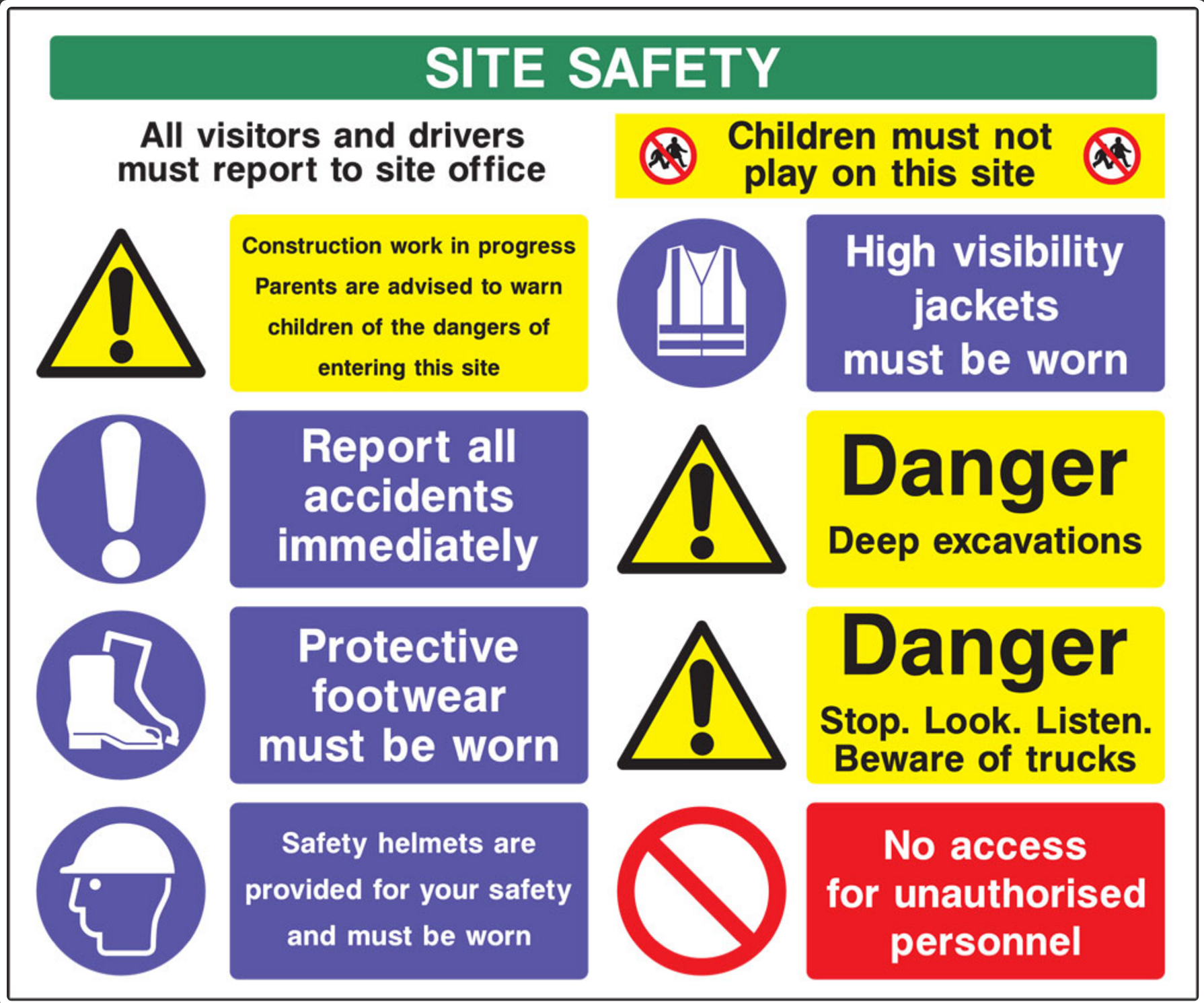 Health And Safety Signs In Cambridge Cambridgeshire